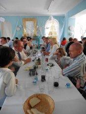 Widok na gości weselnych